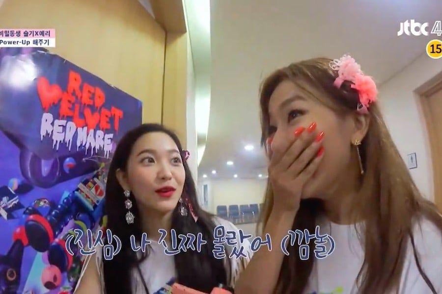 """Seulgi y Yeri de Red Velvet tienen una dulce sorpresa de sus compañeras de """"Secret Sister"""", Sunmi y Han Chae Young en su concierto"""