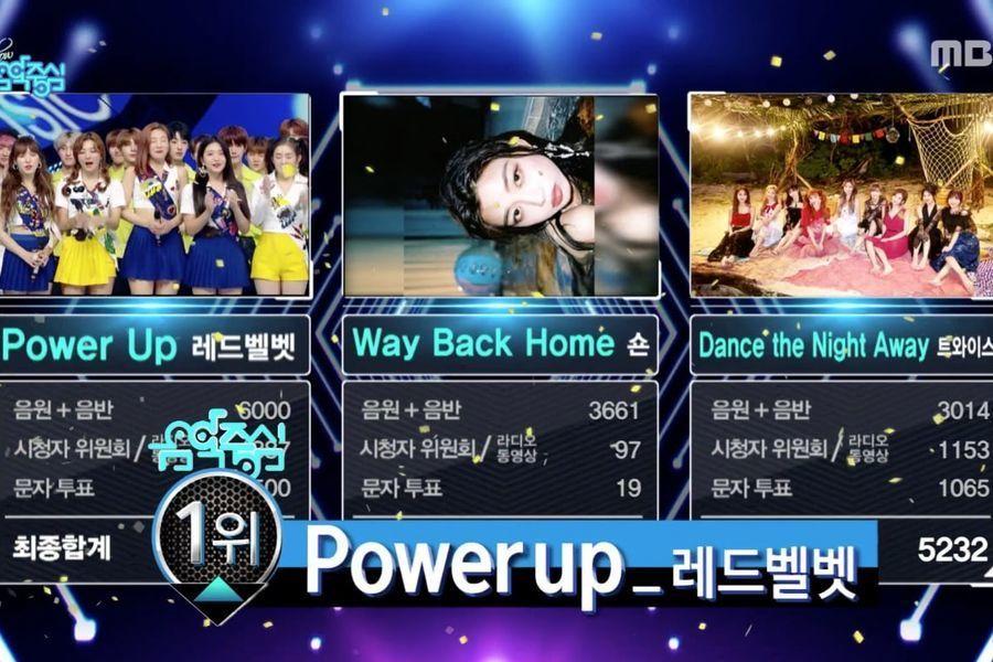 """Red Velvet logra su tercera victoria con """"Power Up"""" en """"Music Core""""; actuaciones de Super Junior D&E, (G)I-DLE, y más"""
