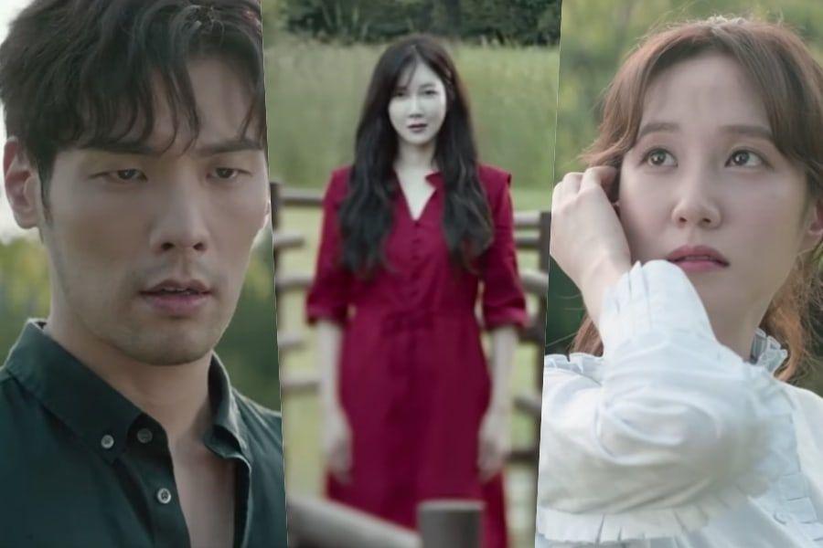 Choi Daniel y Park Eun Bin son perseguidos por Lee Ji Ah en teasers de un nuevo drama de terror