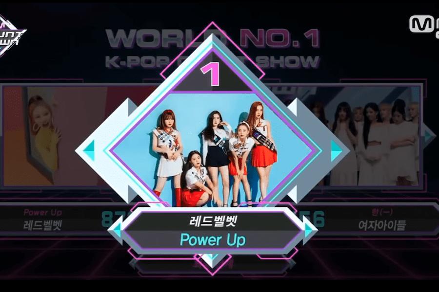 """Red Velvet obtiene séptima victoria para """"Power Up"""" en """"M!Countdown"""" – Presentaciones de los grupos de """"Produce 48"""", (G)I-DLE y más"""