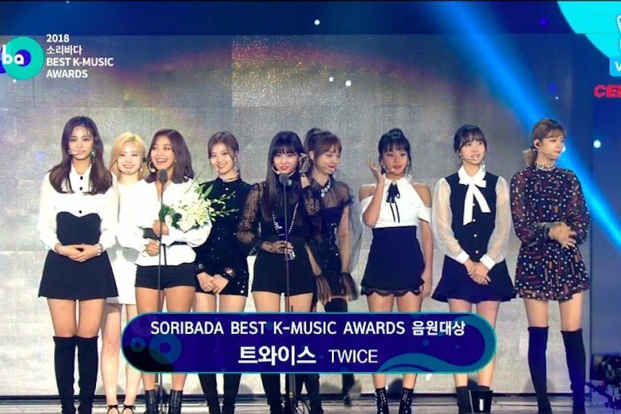 TWICE gana el Daesang Digital en los 2018 Soribada Best K-Music Awards