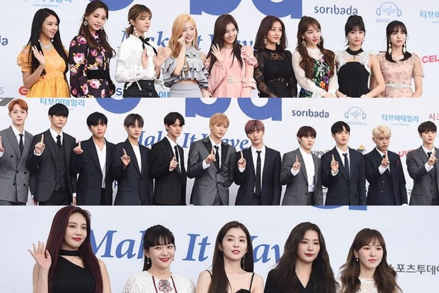 Las estrellas brillan en la alfombra azul de los 2018 Soribada Best K-Music Awards