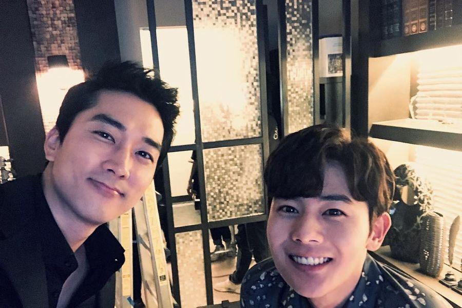 """Kim Dong Jun muestra apoyo por el nuevo drama de su co-estrella de """"Black"""", Song Seung Heon, con camión de café"""