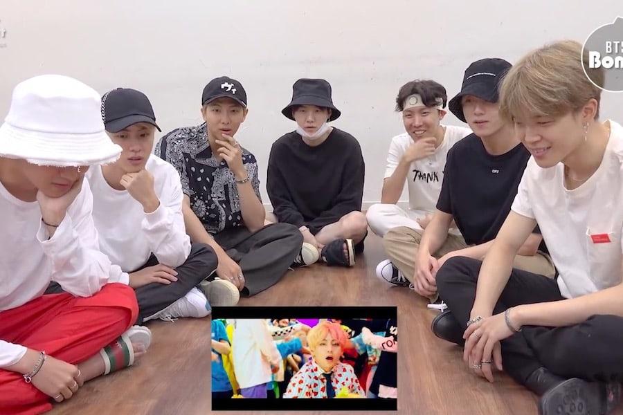 """BTS reaccionan de manera adorable al ver su MV """"IDOL"""""""