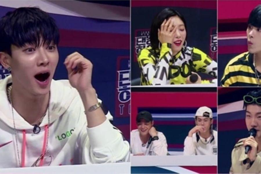 """Lee Gikwang de Highlight, Hoya, Lee Seung Hoon de WINNER y más, hacen las mejores expresiones faciales en """"Dancing High"""""""