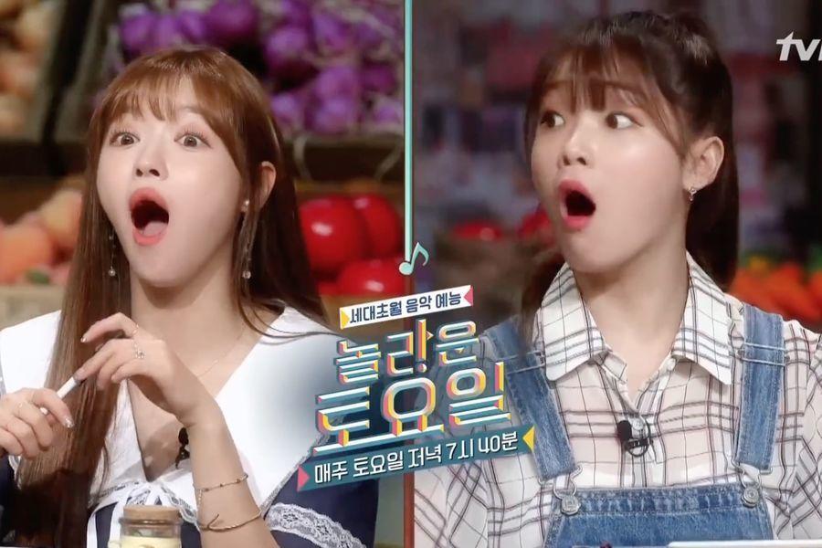 """YooA y Seunghee de Oh My Girl están sorprendidas por las misiones en """"Amazing Saturday"""""""
