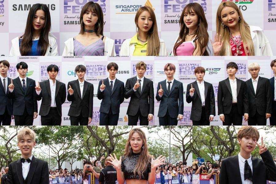 Wanna One, EXID, Jeong Sewoon, y más brillan en la alfombra roja en el día 2 del HallyuPopFest 2018
