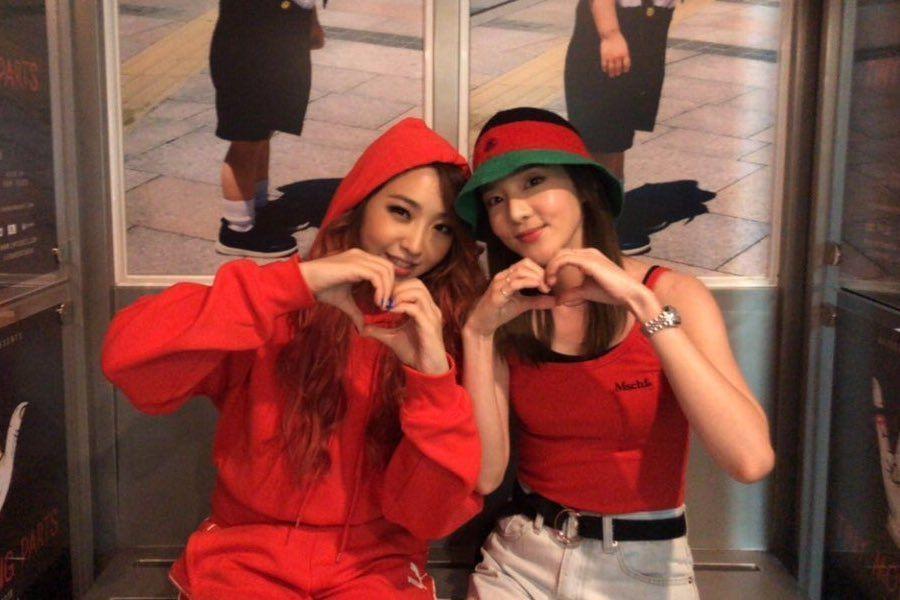 Minzy y Sandara Park disfrutan de una dulce reunión de 2NE1