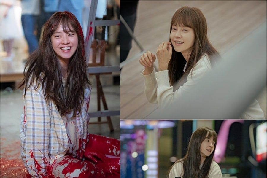 """Song Ji Hyo sonríe brillantemente a través de cualquier desgracia detrás de cámaras de """"Lovely Horribly"""""""