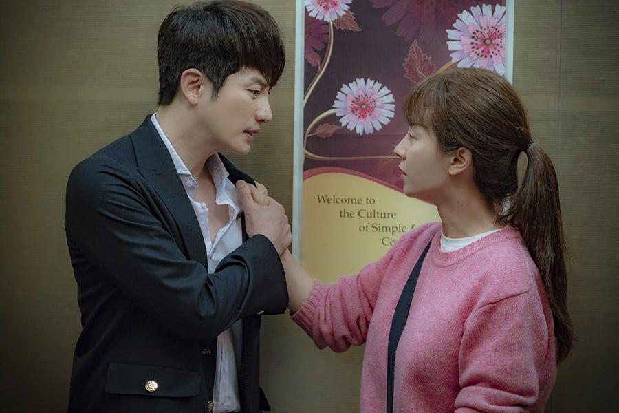 """Song Ji Hyo y Park Shi Hoo comparten un apasionado beso en """"Lovely Horribly"""""""