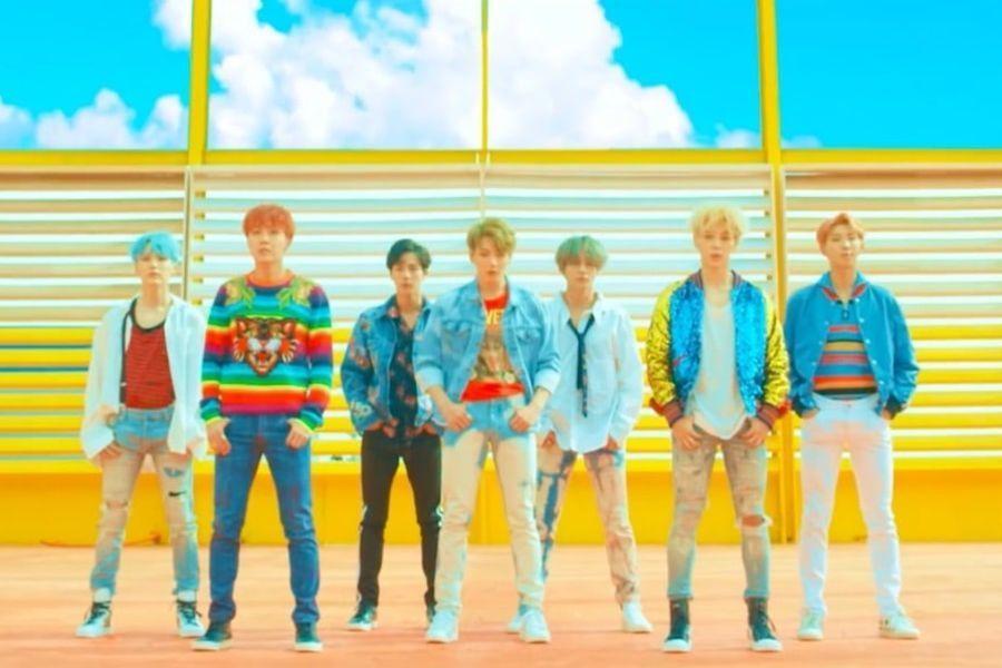 """""""DNA"""" de BTS se convierte en el primer MV de un grupo coreano en alcanzar 500 millones de vistas"""