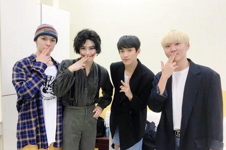 Vernon, DK y Seungkwan de SEVENTEEN muestran apoyo a Suho de EXO por su musical