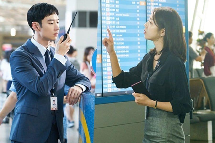 """Lee Je Hoon y Chae Soo Bin se transforman en empleados del aeropuerto para """"Where Stars Land"""""""