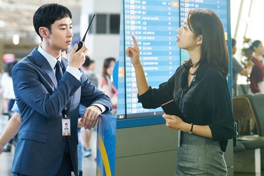 "Lee Je Hoon y Chae Soo Bin se transforman en empleados del aeropuerto para ""Where Stars Land"""