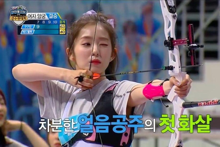 """Irene de Red Velvet logra una puntuación perfecta y logra romper la lente de una cámara en el especial """"2018 Idol Star Athletics Championships – Chuseok Special"""""""