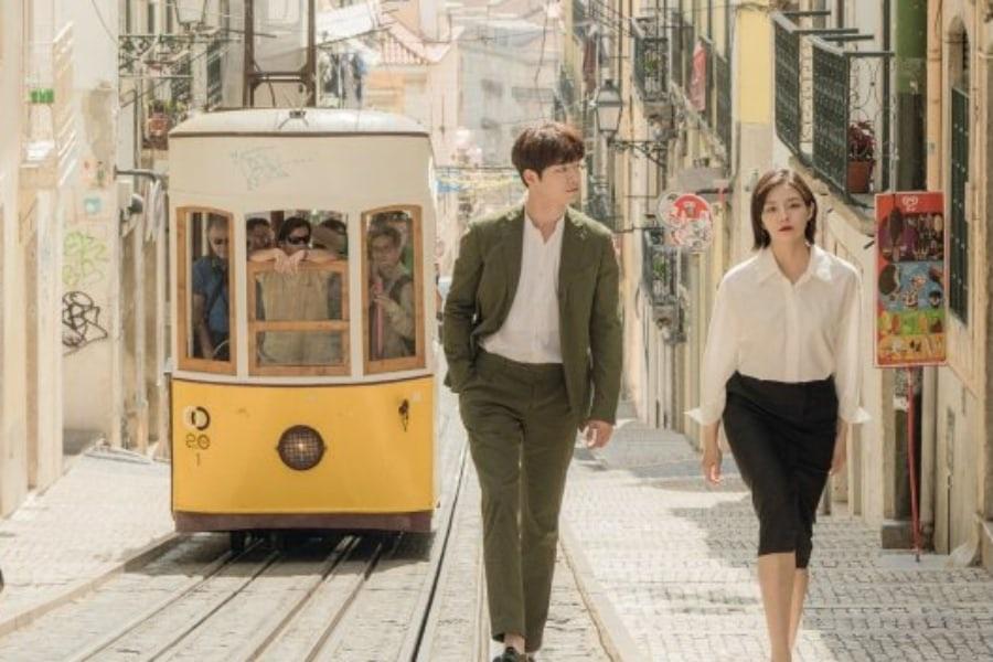 La próxima comedia romántica de Seo Kang Joon y Esom revela sentimental afiche oficial