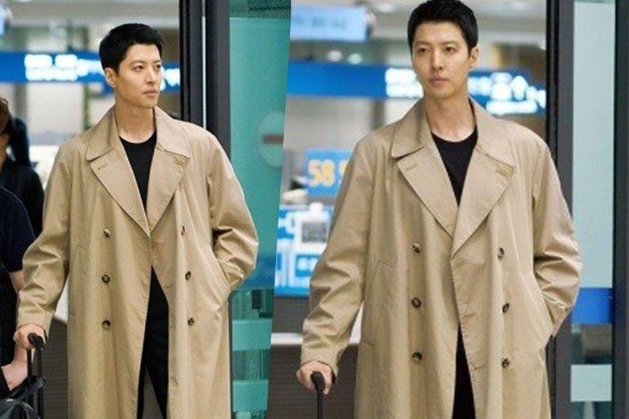 """Lee Dong Gun luce el estilo casual de aeropuerto en """"Where Stars Land"""""""