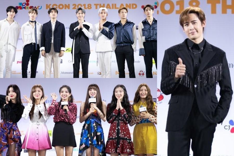 GOT7, (G)I-DLE, Nichkhun de 2PM y más deslumbran en la alfombra roja en el KCON 2018 Thailand Día 2