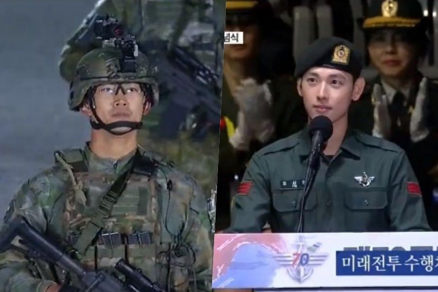 Taecyeon de 2PM y Si Wan de ZE:A participan en el Día de las Fuerzas Armadas