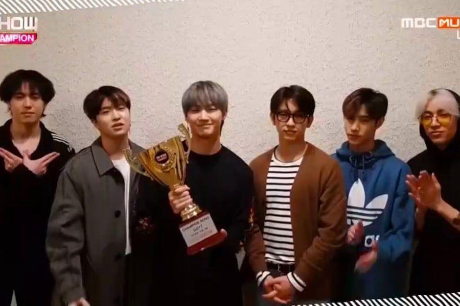 """GOT7 logra su quinto trofeo con """"Lullaby"""" en """"Show Champion"""", actuaciones de PENTAGON, Oh My Girl, y más"""