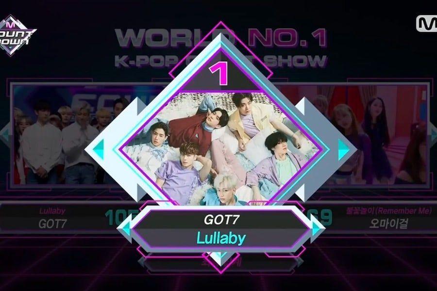 """GOT7 logra su sexto trofeo con """"Lullaby"""" en """"M!Countdown"""", actuaciones de Soyou, DAY6, Oh My Girl, y más"""