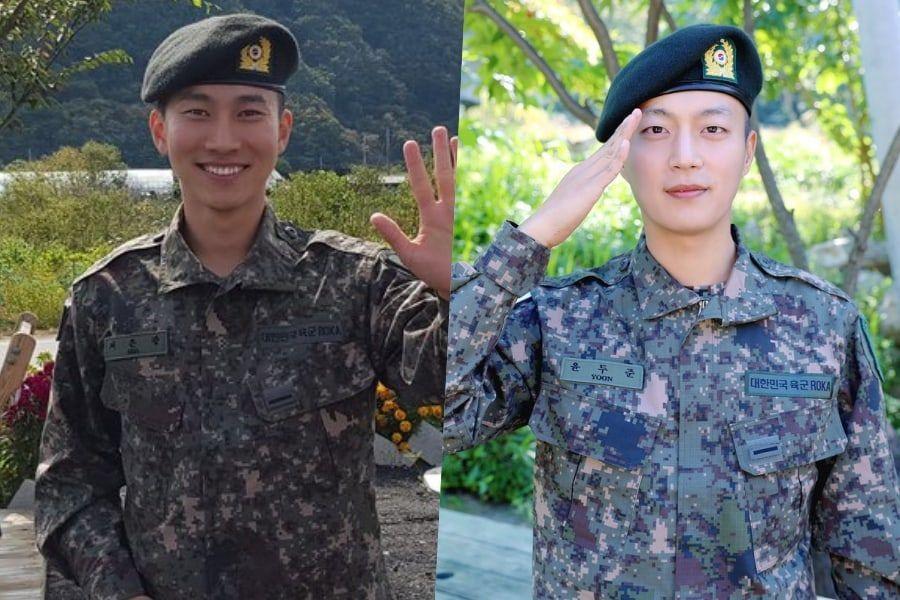 Eunkwang de BTOB y Yoon Doojoon de Highlight completan exitosamente su entrenamiento básico