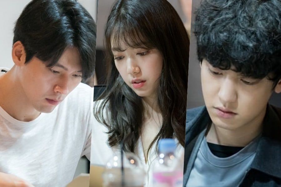 """Hyun Bin, Park Shin Hye y Chanyeol muestran sus habilidades de actuación en la lectura de guión de """"Memories Of The Alhambra"""""""