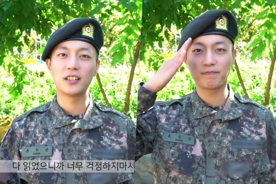 Yoon Doojoon envía mensaje de vídeo a sus fans después de completar el entrenamiento militar