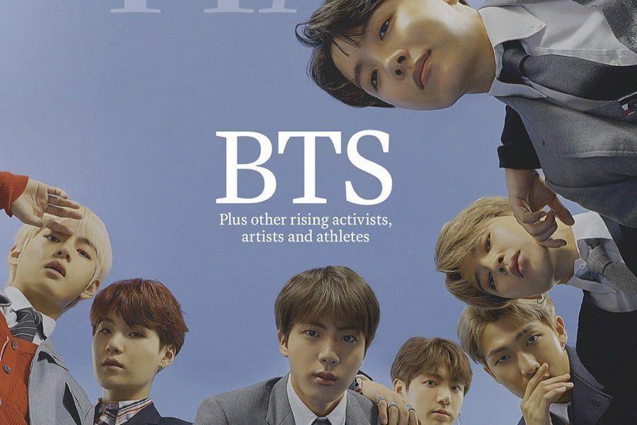 BTS agracia la portada de la revista TIME