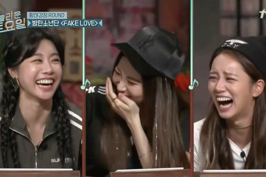 """Sin querer Sojin y Yura de Girl's Day hacen que el elenco de """"Amazing Saturday"""" aprecie a Hyeri"""