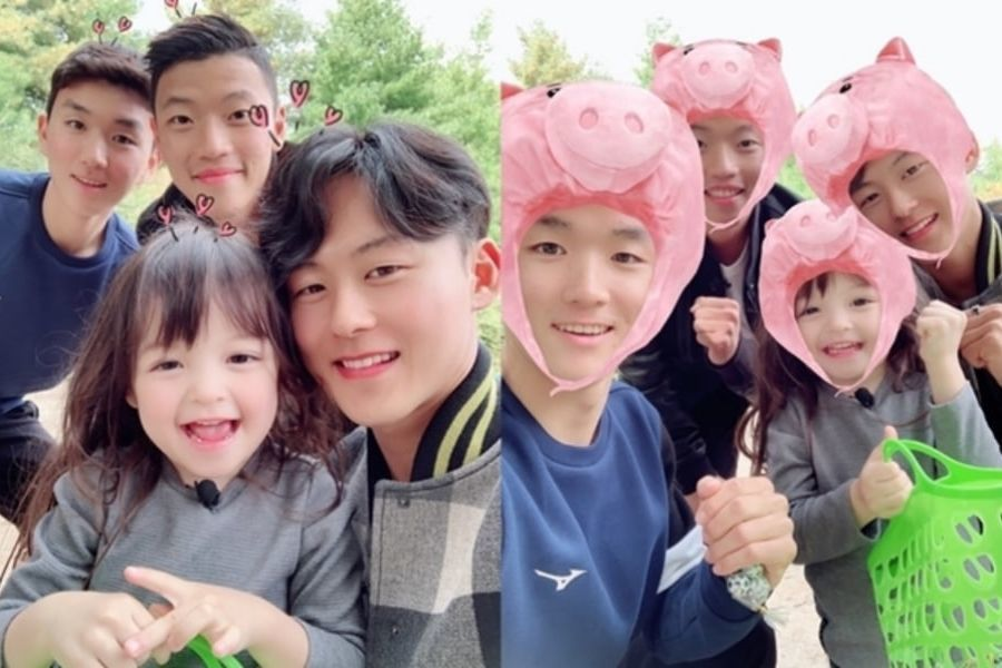 """Na Eun conoce a Lee Seung Woo y otros jugadores del equipo nacional de fútbol en """"The Return of Superman"""""""