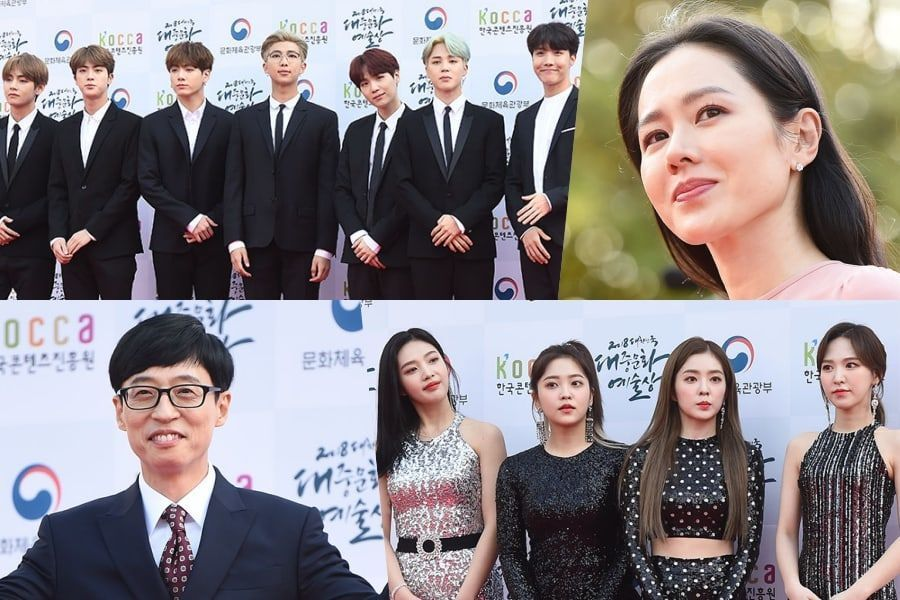 Estrellas pasean por la alfombra roja de los 2018 Korean Popular Culture & Arts Awards