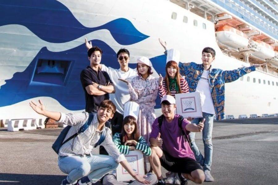 Hyuk de VIXX, Rachel de APRIL, Solbi y más posan para un programa de crucero