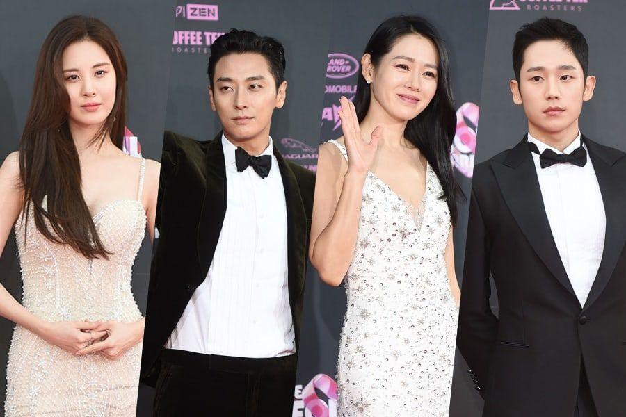 Estrellas brillan en la alfombra roja de los Seoul Awards