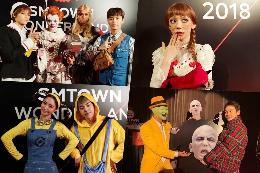 Artistas de SM sorprenden con disfraces una vez más en la fiesta de Halloween este año