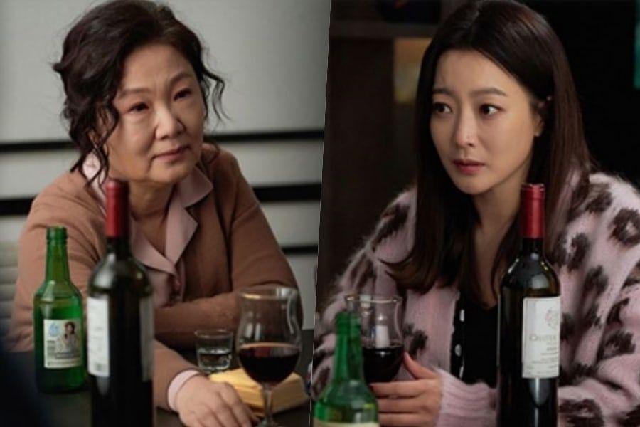 """Kim Hae Sook y Kim Hee Sun son inesperadas compañeras de bebidas en """"Room No. 9"""""""