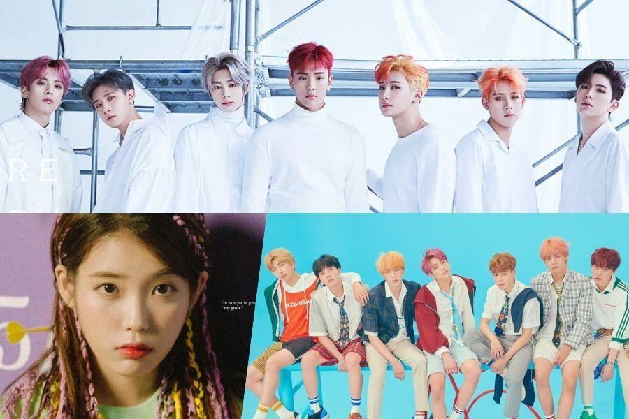 MONSTA X, IU y BTS encabezan las listas semanales de Gaon