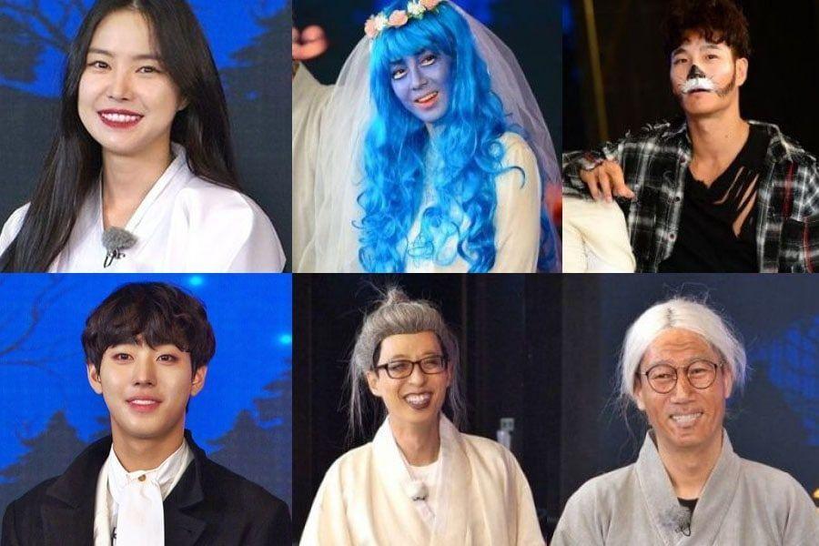 """El elenco de """"Running Man"""", Son Naeun, Ahn Hyo Seop y Seo Young Hee muestran sus disfraces de Halloween"""