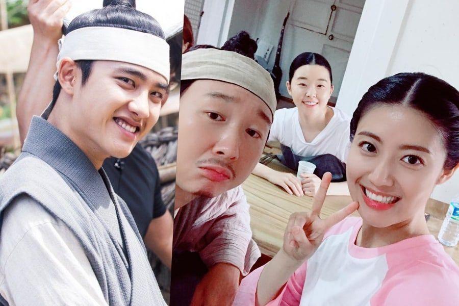"""Las co-estrellas de D.O de EXO en """"100 Days My Prince"""" muestran apoyo por su comeback"""