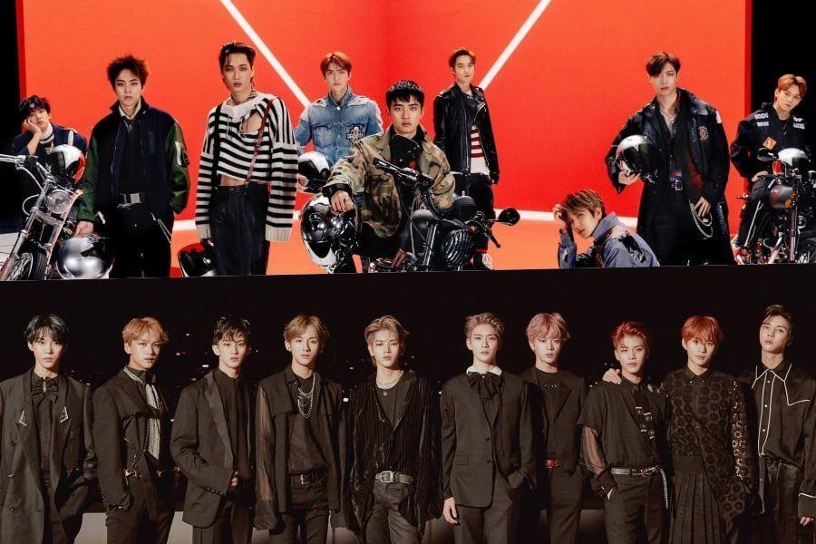 EXO y NCT 127 encabezan las listas de álbumes semanales y mensuales de Gaon