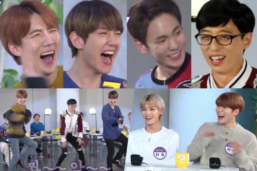 """Yoo Jae Suk y los MCs de """"Happy Together"""" bailan temas más recientes de EXO, Key de SHINee y NCT 127"""