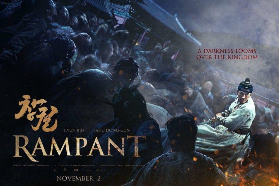 """La película sageuk de zombis, """"Rampant"""", encuentra éxito en el extranjero con altas ventas de distribución"""