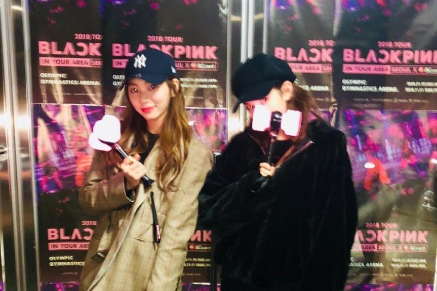 Jeon Somi y Eunbin de CLC se divierten en el concierto de BLACKPINK