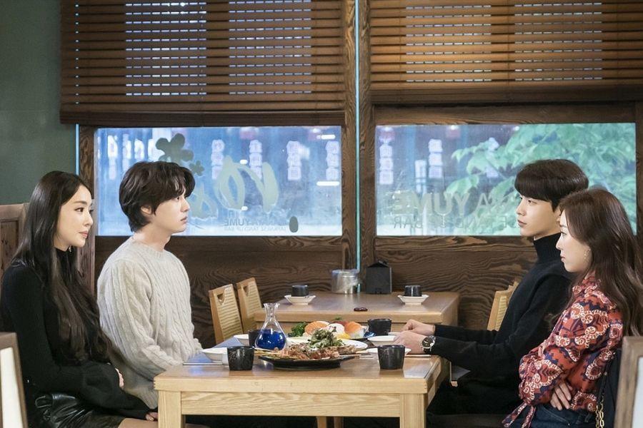 """Seo Hyun Jin, Lee Min Ki, Ahn Jae Hyun y Lee Da Hee tienen la cita doble más incómoda en """"The Beauty Inside"""""""