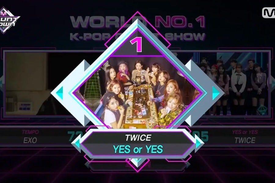 """TWICE logra su segundo trofeo con """"Yes Or Yes"""" en """"M Countdown""""; actuaciones de BTOB, MONSTA X, y más"""