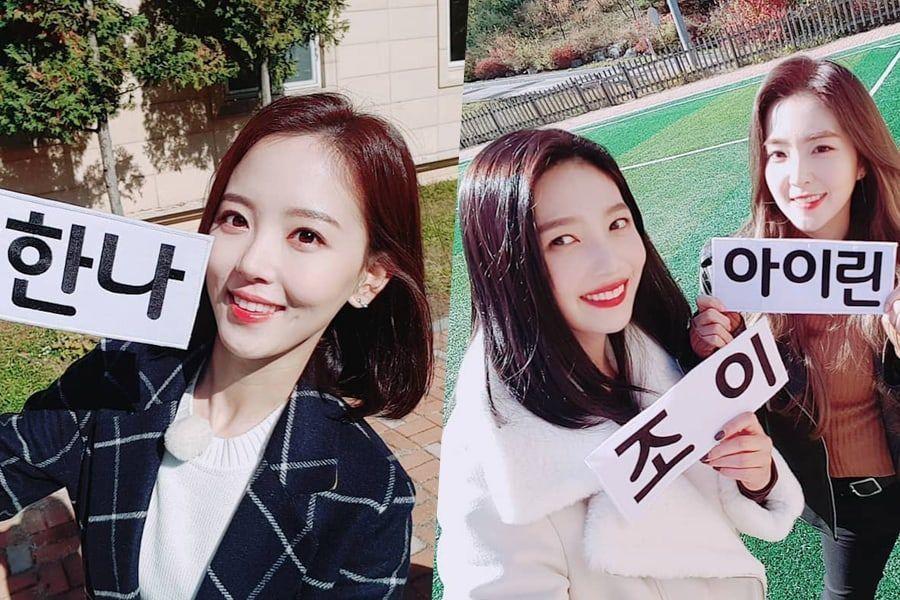 """Kang Han Na, Irene y Joy de Red Velvet se divierten con el reto de poemas acrósticos en """"Running Man"""""""