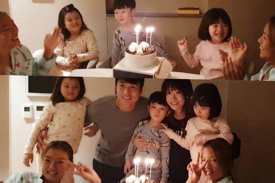 Si An y su familia celebran su cumpleaños número 4