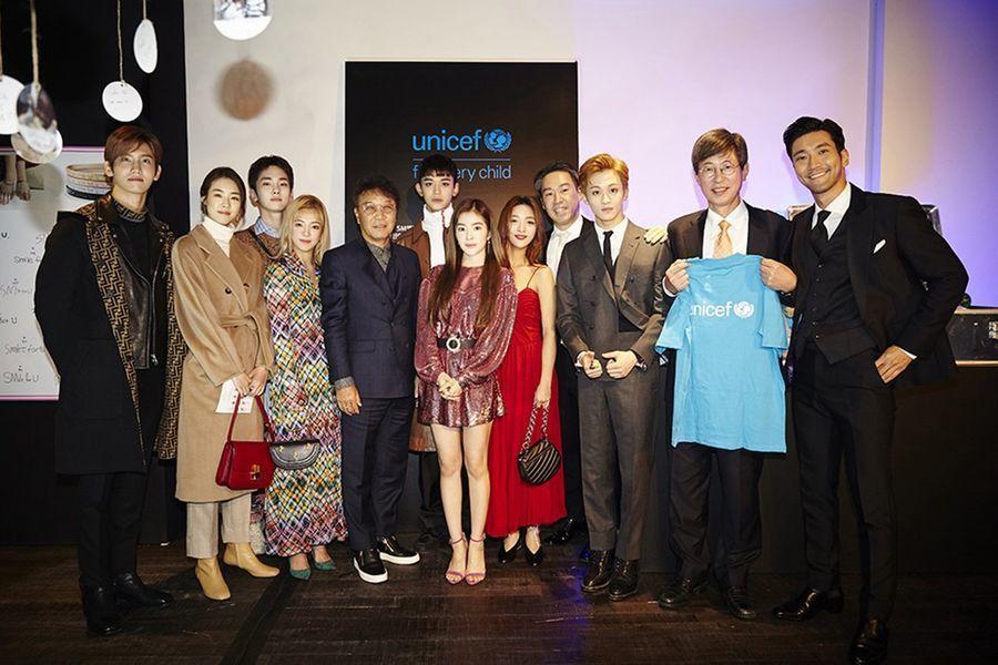 Los artistas de SM asisten a un evento benéfico de gala con UNICEF y Vogue Korea