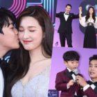 """Minhwan y Yulhee, Seolhyun de AOA, el elenco de """"The Return of Superman"""" y más, caminan por la alfombra roja de los 2018 KBS Entertainment Awards"""