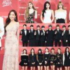 Estrellas pasean por la alfombra roja del 1er día de los 33rd Golden Disc Awards